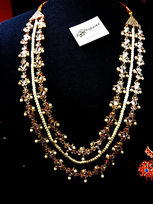 Nayaab 22k Gold plated Handcrafted  Mala Set.