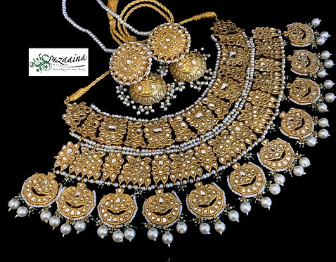 Baleeg 22k Gold plated Handcrafted Bridal Set
