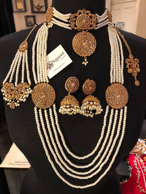 Sahiba 22k Gold plated Choker Bridal Set