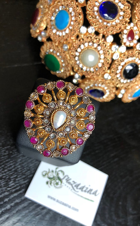 Meej1 22k Gold plated Ring (Adjustable size)