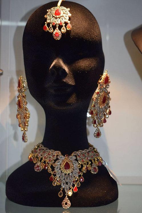 Minhal Earrings and Bindia