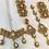 Thumbnail: Subhani 22k Gold plated Handcrafted Bridal Choker Set