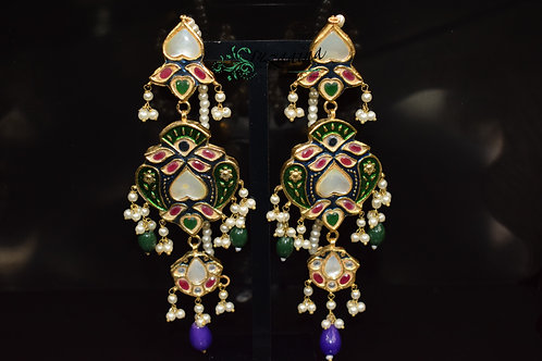 Meena 22k Gold plated Handcrafted Earrings SZER5