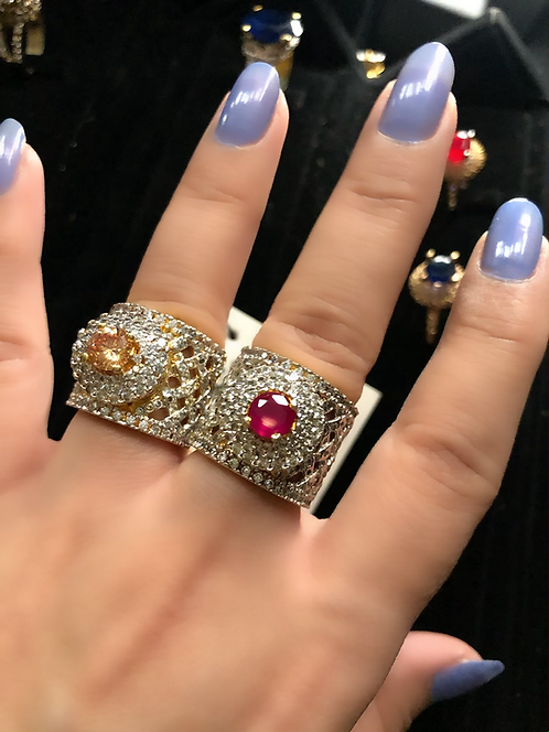Sila Rhodium and Gold plated Rings