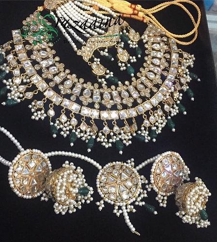 Mahrukh 24k Gold plated Bridal Set.