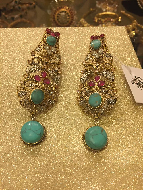 Jogi 22k Gold plated Handcrafted Polki Earrings