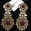 Thumbnail: Aleena 22K Gold plated Handcrafted Ghutka Kundan Earrings .