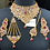 Thumbnail: Sabeen 22k Gold Plated Handcrafted Bridal Set.