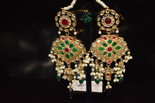 Meena 22k Gold plated Handcrafted Earrings SZER11