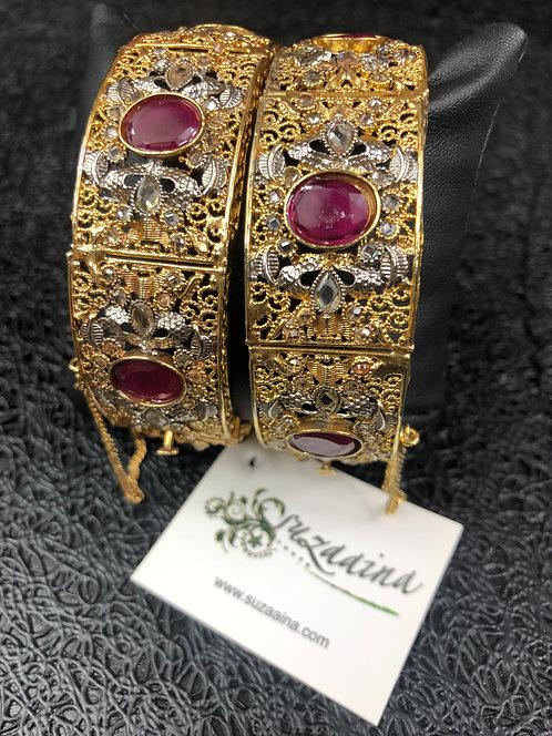Shehrozi 22k Gold plated Handcrafted Bangle