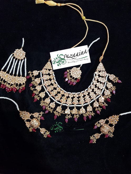 Noorie 22k Gold plated Handcrafted Bridal Set .