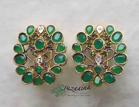 Hayag 22k Gold plated Handcrafted Earrings.