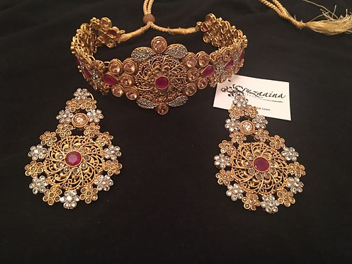 Marina 24k Gold plated Choker Bridal Set