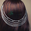 Thumbnail: Hareem Vintage Silver hair chains on Combs with Crystal