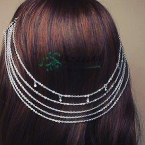 Hareem Vintage Silver hair chains on Combs with Crystal