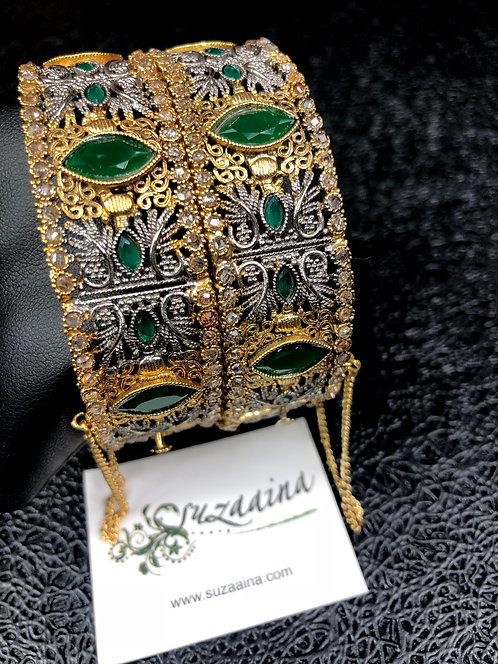 Hurya 22k Gold plated Handcrafted Bangles