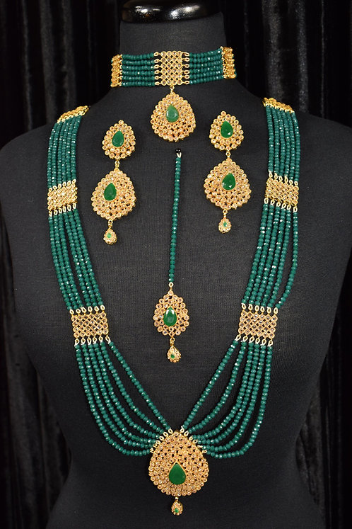 Aaraish 22k Gold plated Choker Bridal Set.