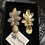 Thumbnail: Zohra Gold Plated Luxury Flower Cluster Earrings.