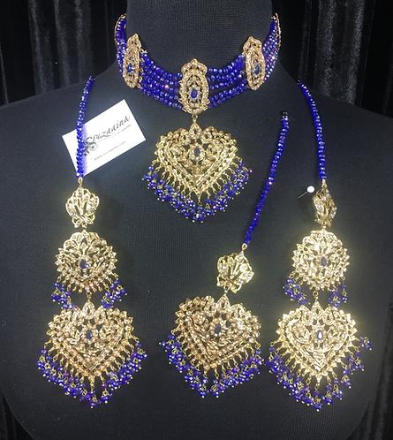 Tara 22k Gold Plated Choker Bridal Set