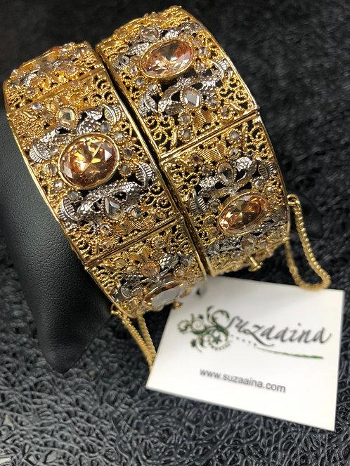 Shehrozi 22k Goldplated Handcrafted Bangle.