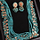 Thumbnail: Abeer 24k Gold plated Multi layered Feroza Kundan Mala Set
