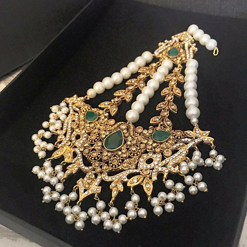 Emerald and Pearls Jhumar