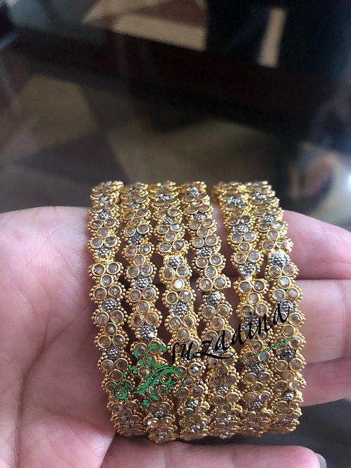 Suhana 22k Gold plated Handcrafted Kundan Bangles