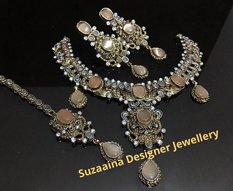 Baila 22k Gold plated Handcrafted Bridal Set.