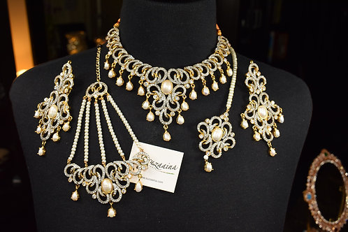 Subh 22k Gold Plated Bridal Set