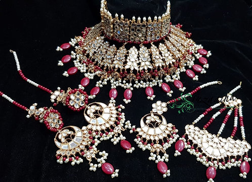 Zulaikh 22k Gold plated Handcrafted Bridal Set .