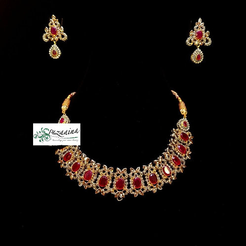 Farya 22k Gold plated Handcrafted Kundan Set.