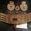 Thumbnail: Aleesha Gold plated Handcrafted Thapa Kundan Choker Bridal Set.