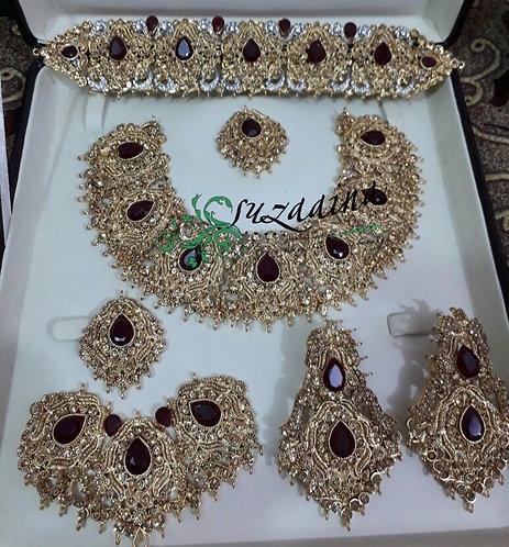 Ankrai 22k Goldplated Bridal Set .