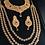 Thumbnail: Hiba 22k Gold plated Diamond polki Bridal Set.