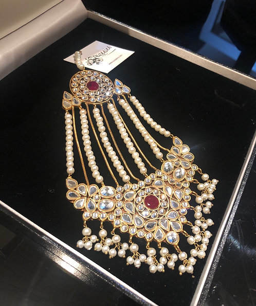 Snober 22K Gold plated Handcrafted Thappa Kundan Jhumer.