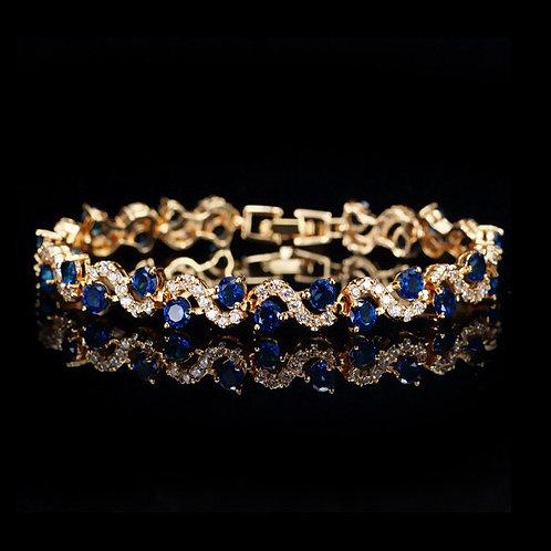 Amaan 18k Gold plated Zircon Bracelet.