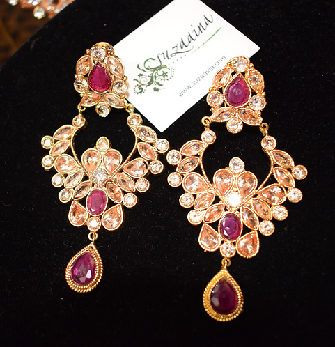 Ammara 22k Gold Plated Handcrafted Earrings