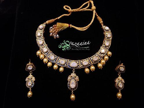 Deena 22k Gold plated Handcrafted Set.