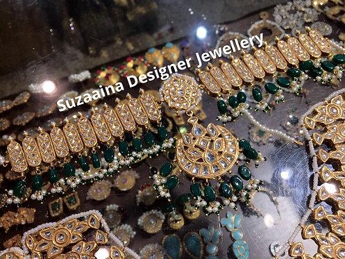 Maha 22k Gold plated Handcrafted Kundan Matha Patti Tikka.