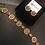 Thumbnail: Yumna 22k Gold Plated Handcrafted Choker Set