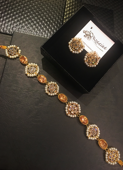 Yumna 22k Gold Plated Handcrafted Choker Set
