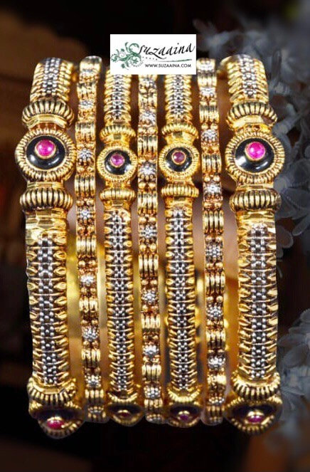 Jol 22k Goldplated Set of Bangles