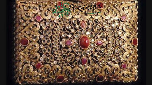 Jahanara Gold Plated Handcrafted Clutch