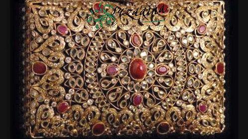 Jahanara Gold Plated Handcrafted Clutch