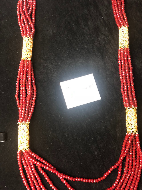 Zahan 22k Gold plated Handcrafted Mala