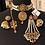 Thumbnail: Sahiba 22k Gold plated Choker Bridal Set