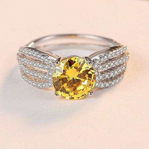 Fareen 925 Sterling Silver Zircon Ring.