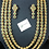 Thumbnail: Maikal 24k Gold plated handcrafted rubies and diamond Polki bridal mala set