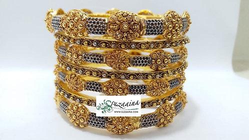 Rukya 22k Goldplated Set of bangles
