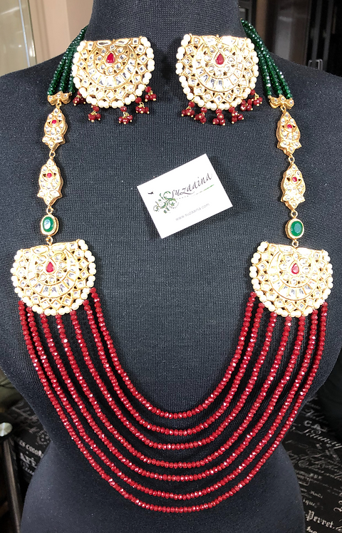 Sultani 22k Gold plated Handcrafted Mala Set.